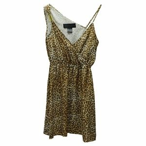 Kardashian Kollection Leopard Asymmetric Dress XS